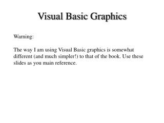 Visual Basic Graphics