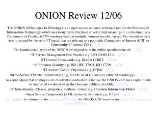 ONION Review 12/06
