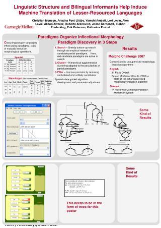 Paradigms Organize Inflectional Morphology