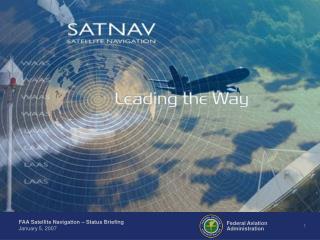 U.S. Satellite-Based Navigation Systems