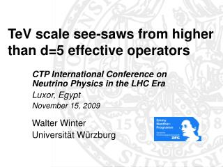 TeV scale see-saws from higher than d=5 effective operators