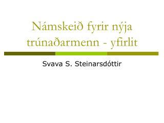 Námskeið fyrir nýja trúnaðarmenn - yfirlit