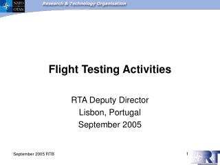 Flight Testing Activities
