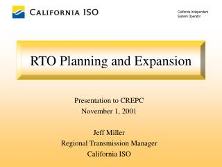 RTO Planning and Expansion