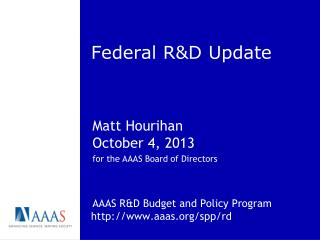 Federal R&D Update