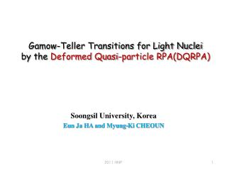 Gamow-Teller Transitions for Light Nuclei  by the  Deformed Quasi-particle RPA(DQRPA)