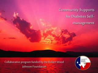 Community Supports for Diabetes Self-management