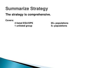 Summarize Strategy