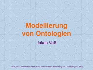 Modellierung von Ontologien