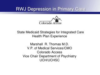 RWJ Depression in Primary Care