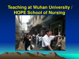 Teaching at Wuhan University