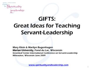 GIFTS: Great Ideas for Teaching Servant-Leadership