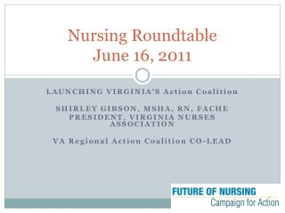 Nursing Roundtable June 16, 2011