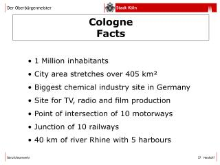 Cologne Facts