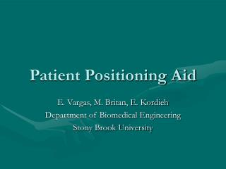 Patient Positioning Aid