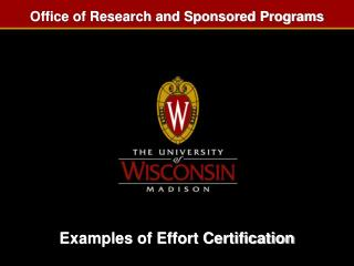 Examples of Effort Certification