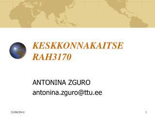 KESKKONNAKAITSE RAH3170