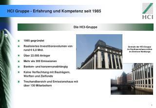 HCI Gruppe - Erfahrung und Kompetenz seit 1985