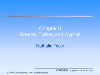 Chapter 8 Greece, Turkey and Cyprus