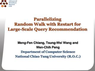 Parallelizing  Random Walk with Restart for  Large-Scale Query Recommendation