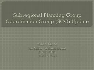 SCG  Members