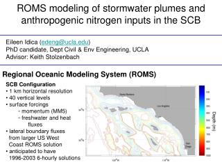 ROMS modeling of stormwater plumes and anthropogenic nitrogen inputs in the SCB