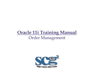 Oracle 11i Training Manual Order Management