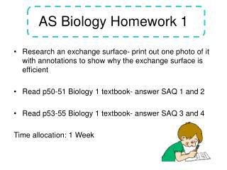 AS Biology Homework 1