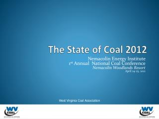 The State of Coal 2012