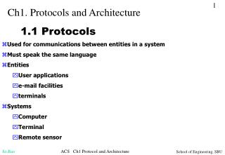 Ch1. Protocols and Architecture