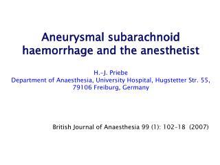British Journal of Anaesthesia 99 (1): 102–18  (2007)