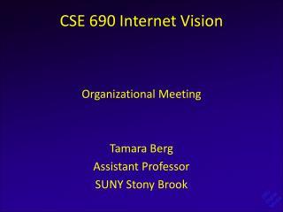 CSE 690 Internet Vision