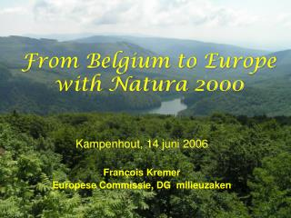 From Belgium to Europe with Natura 2000