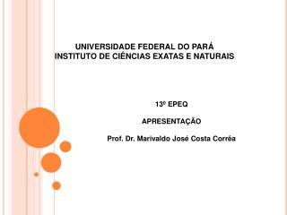 UNIVERSIDADE FEDERAL DO PARÁ INSTITUTO DE CIÊNCIAS EXATAS E NATURAIS