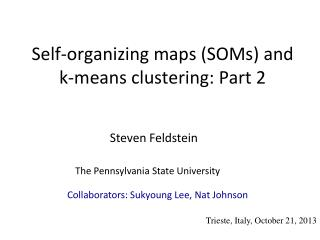 Self-organizing maps (SOMs) and k-means clustering:  Part 2
