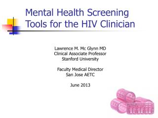 Mental Health Screening Tools for the HIV Clinician