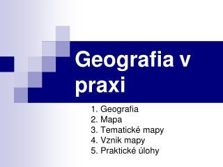 Geografia v praxi