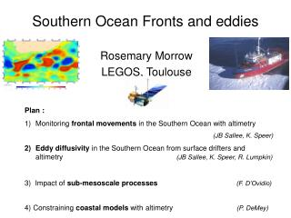 Southern Ocean Fronts and eddies