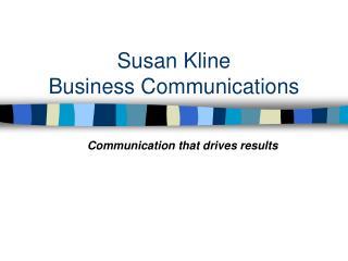 Susan Kline Business Communications