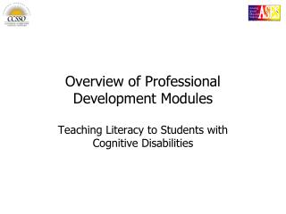 Overview of Professional Development Modules
