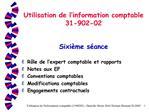 Utilisation de l information comptable 31-902-02