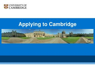 Applying to Cambridge