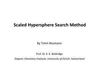 By Timm Reumann  Prof. Dr. K. K. Baldridge