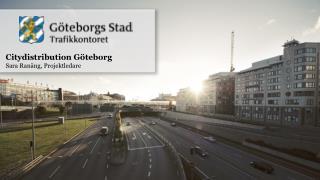 Citydistribution Göteborg Sara Ranäng, Projektledare