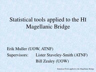 Statistical tools applied to the H I  Magellanic Bridge