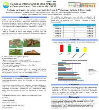 Avaliação participativa de projetos conceituais de Centro de Visitantes de Unidade de Conservação
