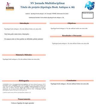 XV Jornada Multidisciplinar Título do projeto (tipologia Book Antiqua n. 66)