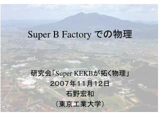 Super B Factory  での物理
