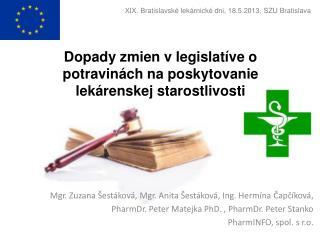 Dopady zmien v legislatíve o potravinách na poskytovanie lekárenskej starostlivosti