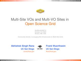 Multi-Site VOs and Multi-VO Sites in Open Science Grid